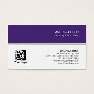 Profissional mínimo simples do consultor de cartão de visitas
