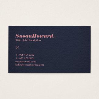 Profissional moderno do rosa da textura do papel cartão de visitas