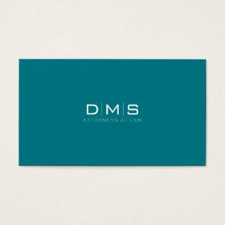 Profissional Monograma Iniciais Escritório de Cartão De Visitas