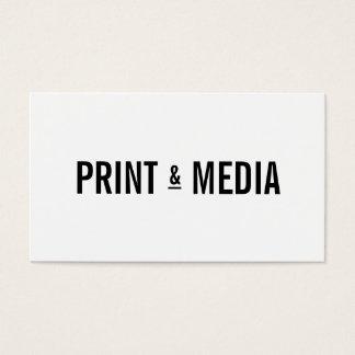Profissional preto branco simples moderno da caixa cartão de visitas