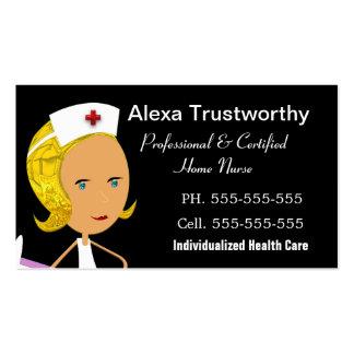"""Profissional privado da enfermeira 3,5"""" x 2,0"""" cartão de visita"""