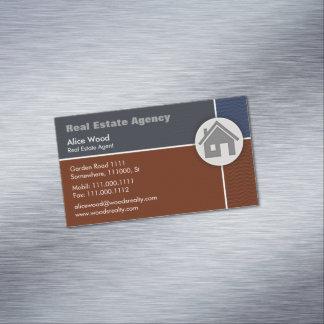 Profissional real da agência imobiliária   cartão de visitas magnético