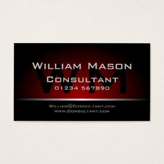 Profissional vermelho preto do monograma - cartão