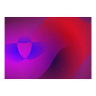 Profundamente - arte abstracta simples roxa convites personalizado