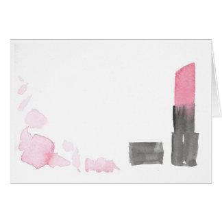 Profundamente - cartão de nota cor-de-rosa do