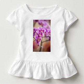 Profundamente - corrente de flor cor-de-rosa da camiseta infantil