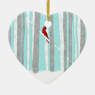 Profundamente na floresta ornamento de cerâmica coração