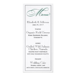 Profundo elegante - cartão verde do menu do