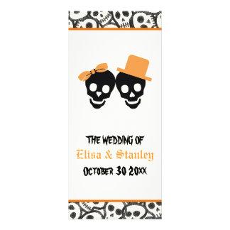 Programa alaranjado do casamento do Dia das Bruxas 10.16 X 22.86cm Panfleto