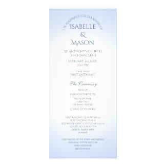 Programa azul do casamento 10.16 x 22.86cm panfleto