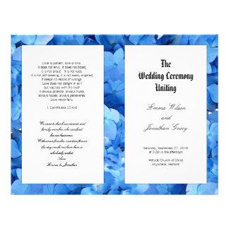 Programa católico cristão do casamento do Hydrange Panfleto Personalizados