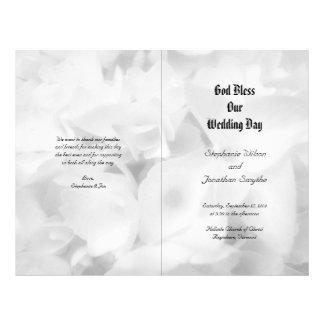 Programa católico preto e branco do casamento da c modelos de panfleto