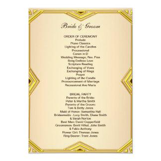 Programa clássico formal do casamento convite 12.7 x 17.78cm