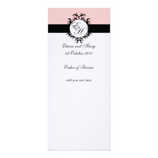 Programa cor-de-rosa chique do casamento tema dama convite
