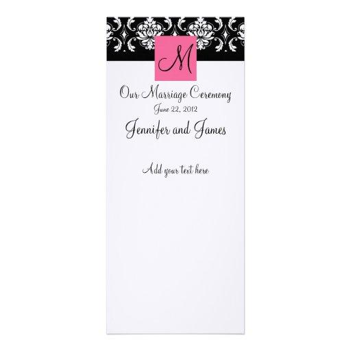 Programa cor-de-rosa da igreja do casamento tema d convite personalizados