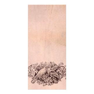 Programa cor-de-rosa do casamento do pergaminho do 10.16 x 22.86cm panfleto
