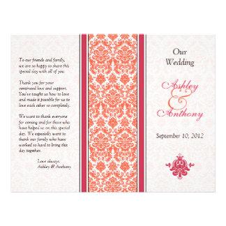Programa da melancia e do casamento tema damasco d modelos de panfleto