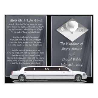 Programa de luxe do casamento (design da Bi-dobra) Flyer 21.59 X 27.94cm