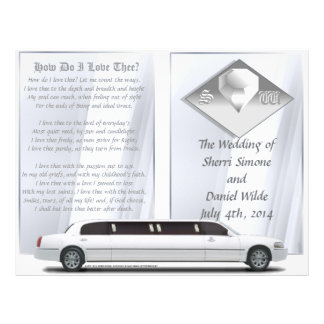Programa de luxe do casamento (design da Bi-dobra) Modelo De Panfleto
