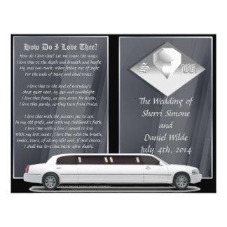 Programa de luxe do casamento design da Bi-dobra Panfletos Personalizado