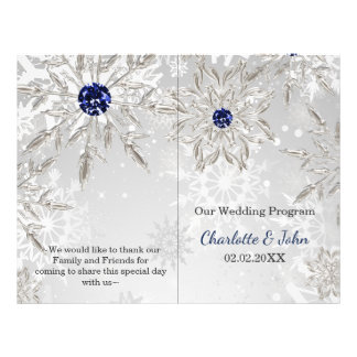 programa de prata do casamento no inverno dos flyer