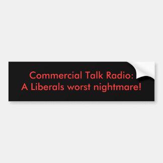 Programa de rádio comercial: Um pesadelo o mais ma Adesivo Para Carro