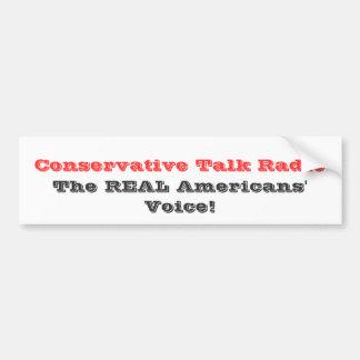 Programa de rádio conservador, o Vo dos americanos Adesivo