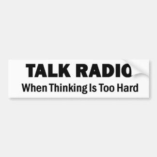 Programa de rádio - quando pensar for demasiado du adesivo para carro