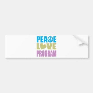 Programa do amor da paz adesivo