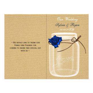 programa do casamento da dobra do livro do rosa panfleto personalizado