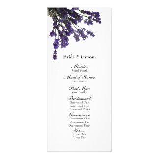 Programa do casamento da lavanda do frasco de pedr 10.16 x 22.86cm panfleto