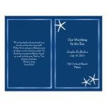 Programa do casamento de praia da estrela do mar d panfletos personalizados