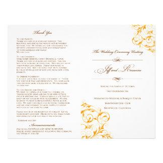 Programa do casamento de Roxanne Panfleto Coloridos