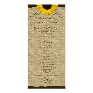 Programa do casamento de serapilheira do país do g 10.16 x 22.86cm panfleto