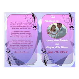 Programa do casamento (design Bifold) Panfletos