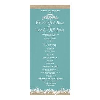 Programa do casamento do Aqua da festão do mar Panfletos Informativos Personalizados