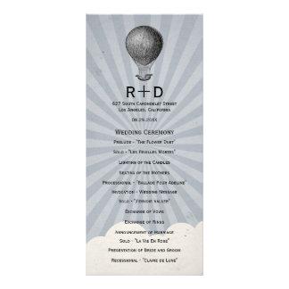 Programa do casamento do balão de ar quente do vin modelos de panfletos informativos