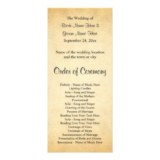Programa do casamento do design do teste padrão do 10.16 x 22.86cm panfleto