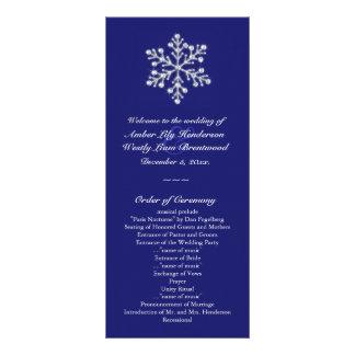 Programa do casamento do floco de neve do inverno planfeto informativo colorido