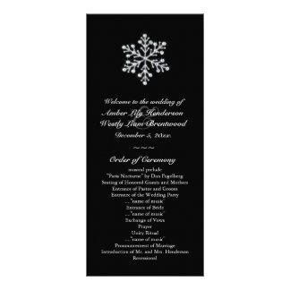 Programa do casamento do floco de neve do inverno 10.16 x 22.86cm panfleto
