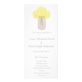 Programa do casamento do frasco de pedreiro 10.16 x 22.86cm panfleto