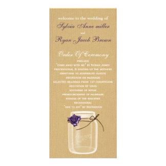 programa do casamento do frasco de pedreiro de 10.16 x 22.86cm panfleto
