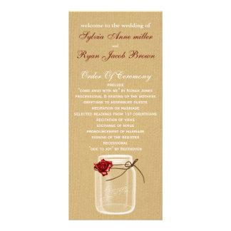 programa do casamento do frasco de pedreiro de panfletos informativos personalizados