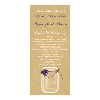 programa do casamento do frasco de pedreiro de panfletos informativos