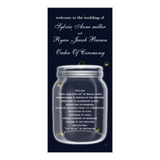 programa do casamento do frasco de pedreiro dos 10.16 x 22.86cm panfleto