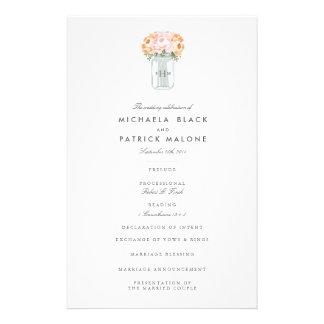Programa do casamento do frasco de pedreiro flyer 13.97 x 21.59cm