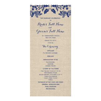 Programa do casamento do jardim e da serapilheira  10.16 x 22.86cm panfleto