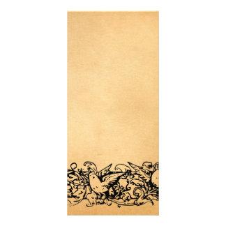 Programa do casamento do pergaminho do vintage 10.16 x 22.86cm panfleto