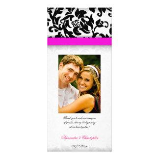 Programa do casamento do prazer do rosa quente e d 10.16 x 22.86cm panfleto