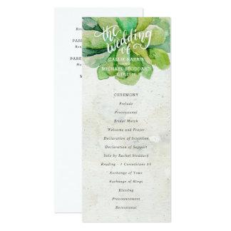 Programa do casamento do Succulent do deserto - Convite 10.16 X 23.49cm
